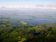 Carlos Rodríguez. Tonalidades azules de las pozas de agua. Foto tomada durante vuelo México-Villahermosa Tabasco, en comisión oficial del IMTA.
